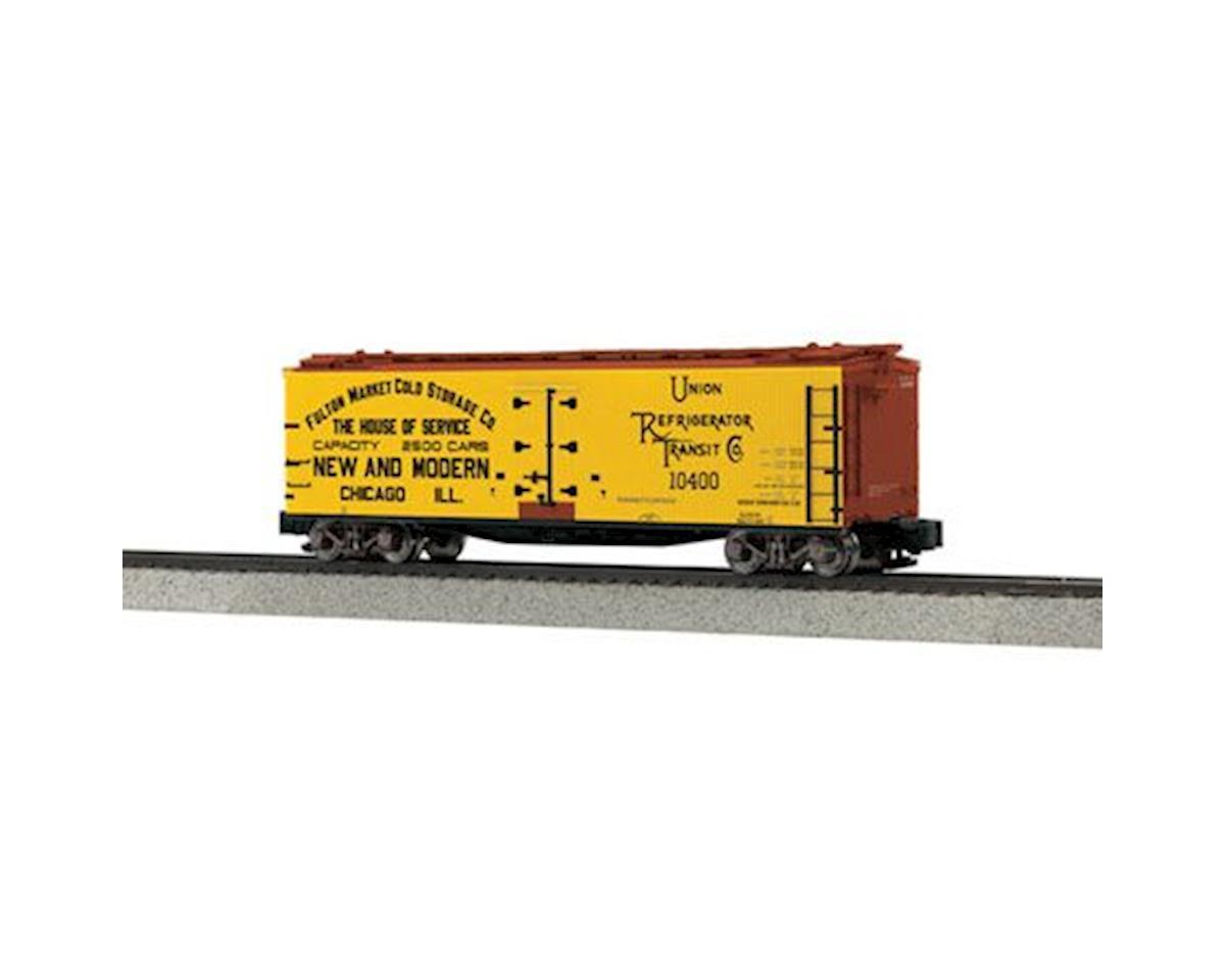 MTH Trains S 40' Wood Reefer, Fulton Market #10400