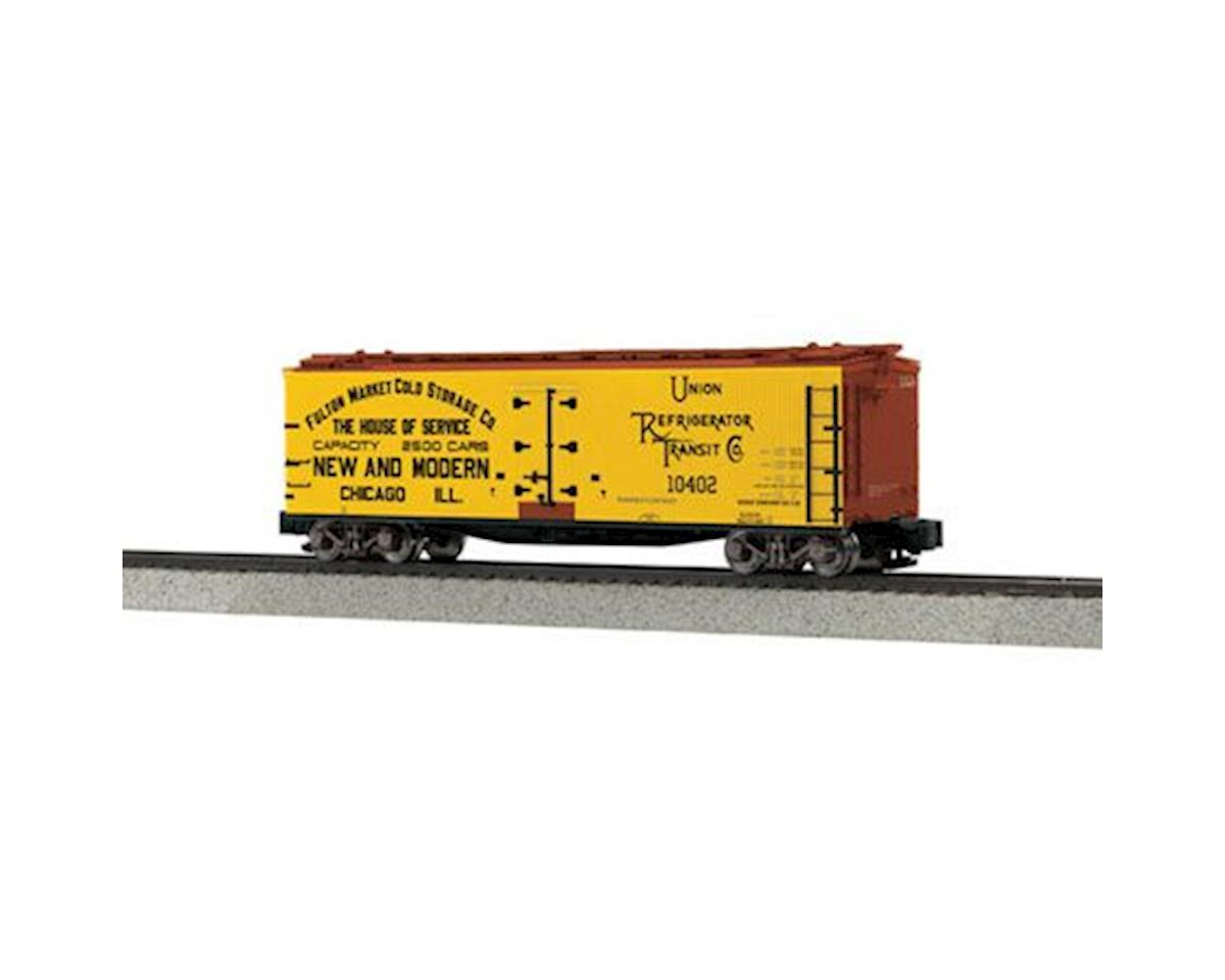 MTH Trains S 40' Wood Reefer, Fulton Market #10402