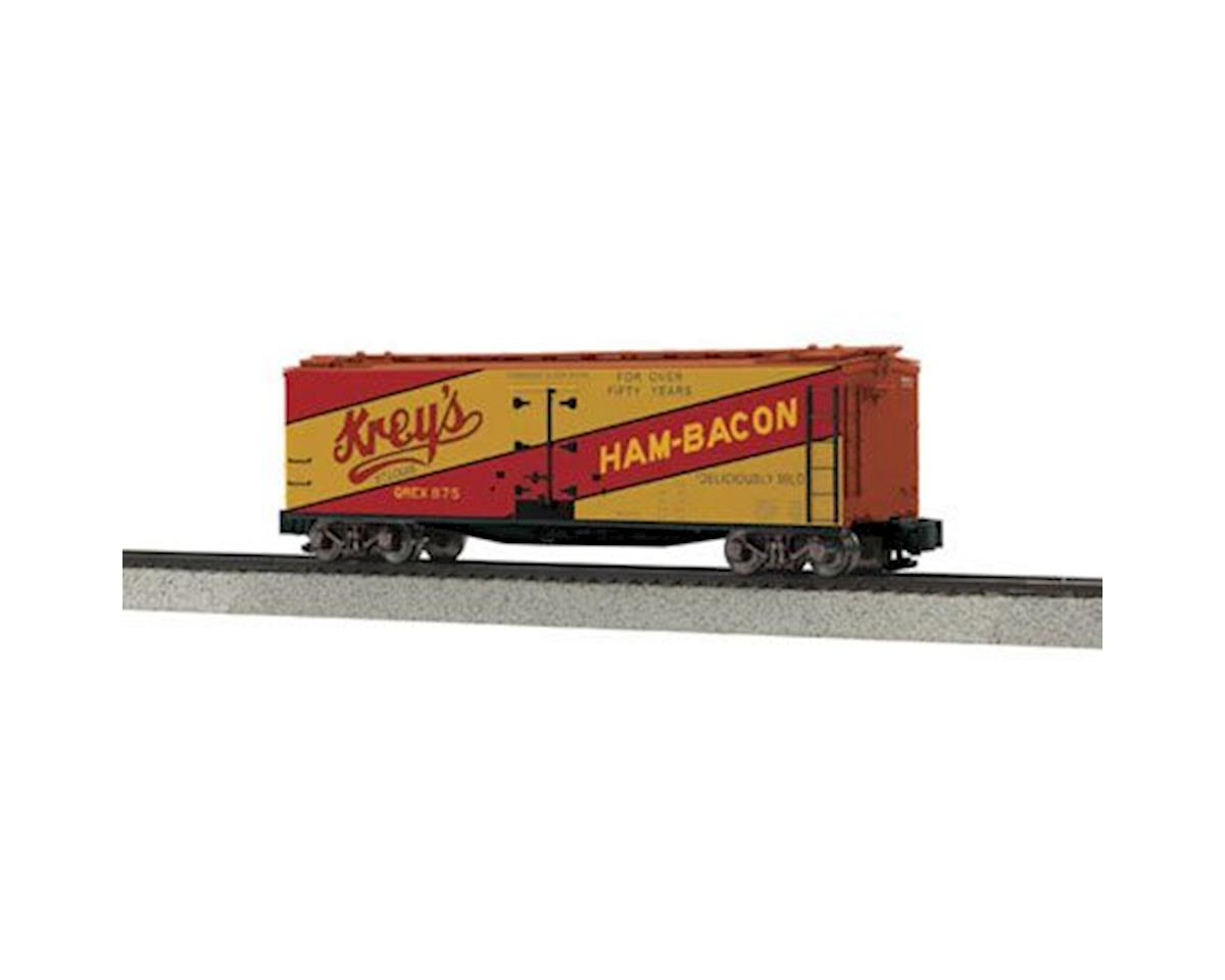 MTH Trains S 40' Wood Reefer, Kreys Ham & Bacon #875
