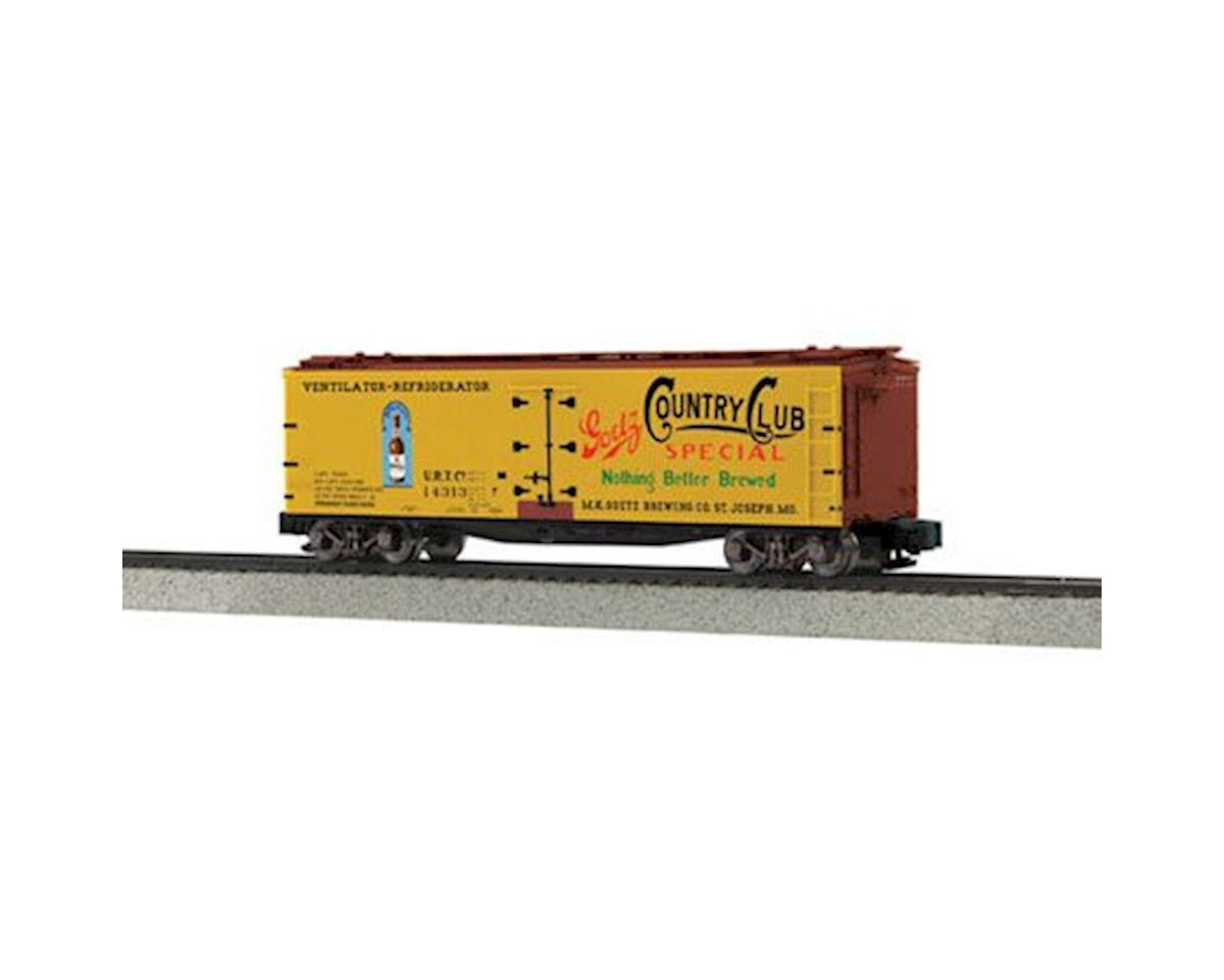 MTH Trains S 40' Wood Reefer, MK Goetz Brewery #14313