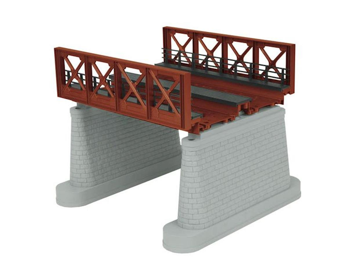 MTH Trains O 2-Track Girder Bridge, Rust