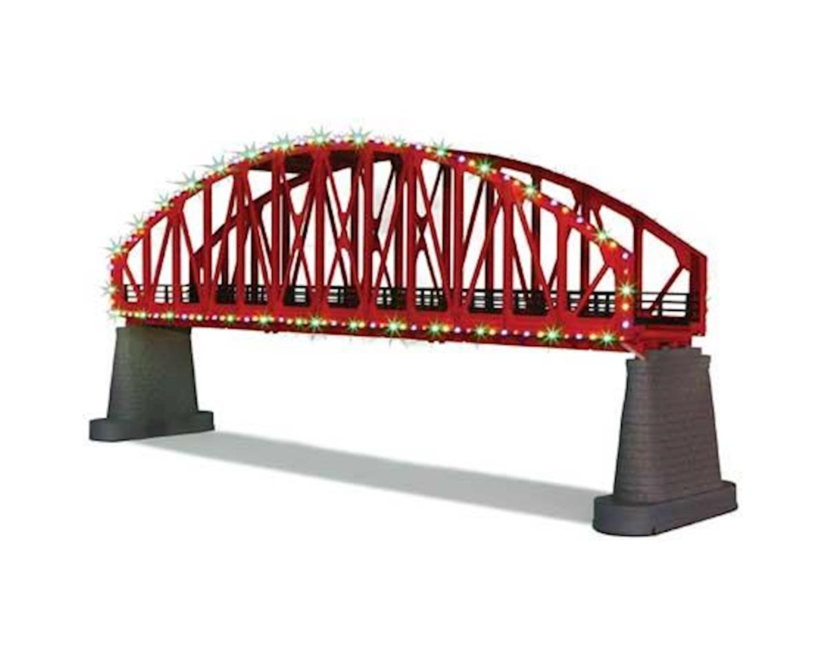 MTH Trains O Steel Arch Bridge w/Operating Christmas Lights