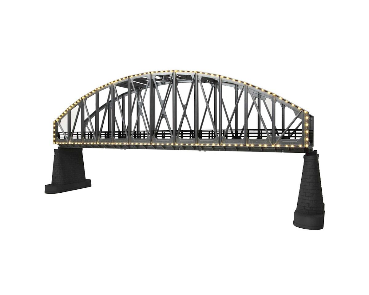 O Steel Arch Bridge w/Operating White Lights by MTH Trains