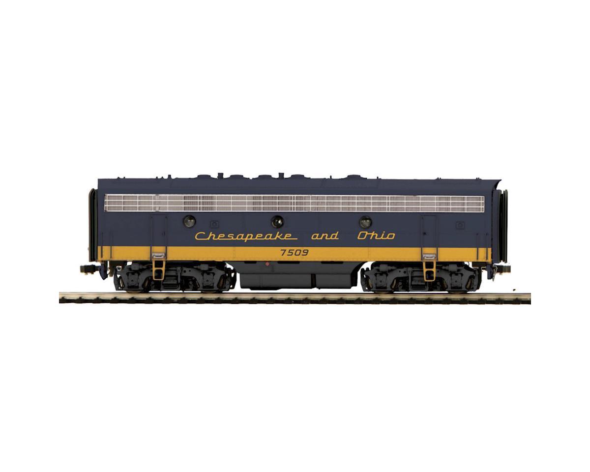MTH Trains HO F7B w/NMRA Socket, C&O #7509