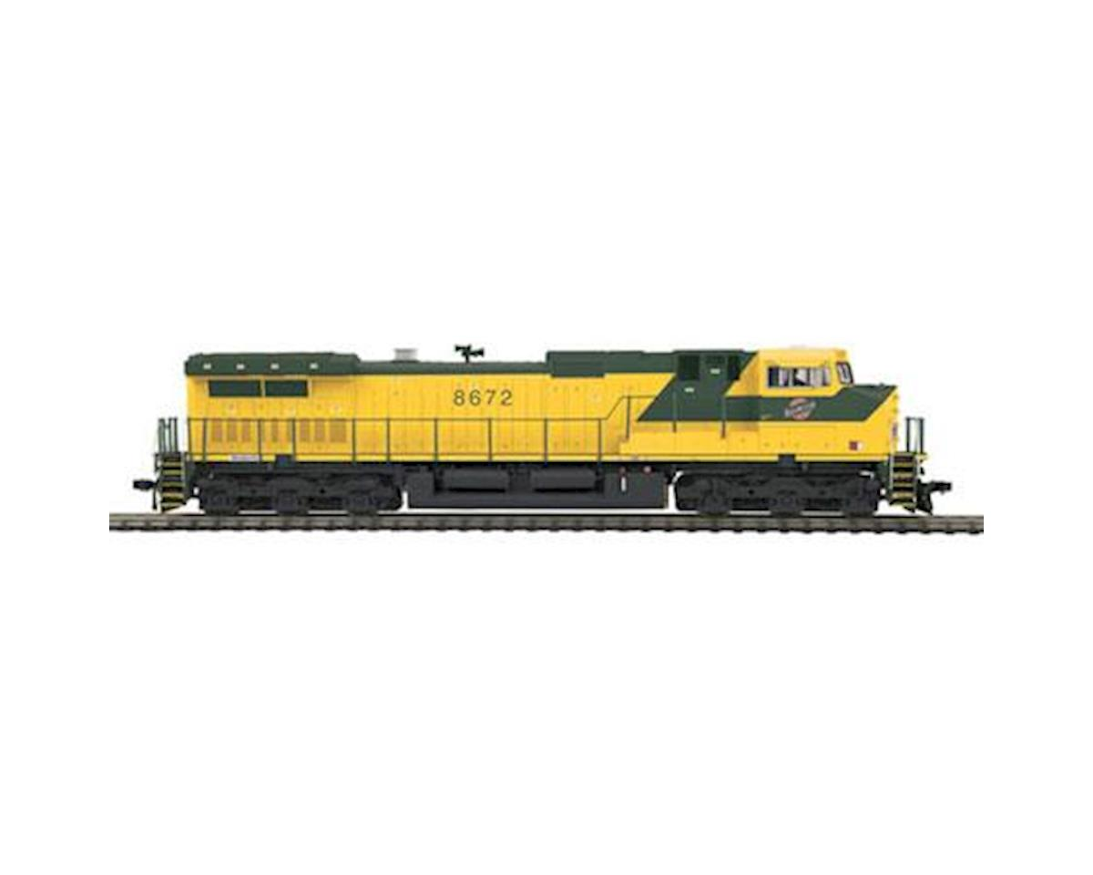 MTH Trains HO Dash-9 w/PS3, C&NW #8672