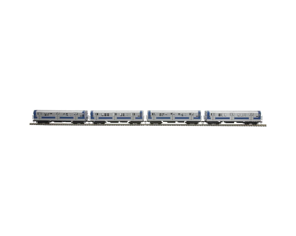 MTH Trains HO R-17 Subway w/PS3,MTA/South Exp/Blue/Silver (4)