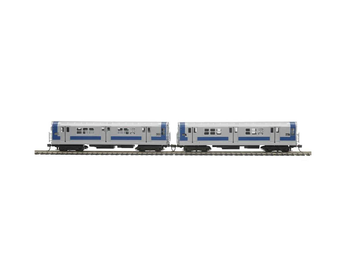 HO R-17 Subway Dummy, MTA/Blue/Silver (2)