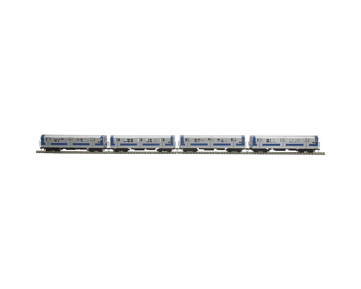 MTH Trains HO R-17 Subway w/PS3,MTA/North Exp/Blue/Silver (4)