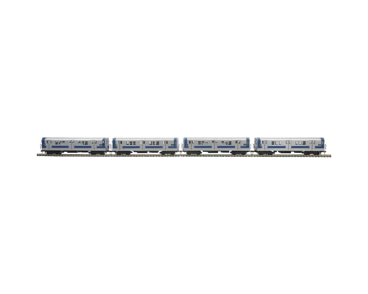 MTH Trains HO R-21 Subway w/PS3, MTA #7150 (4)