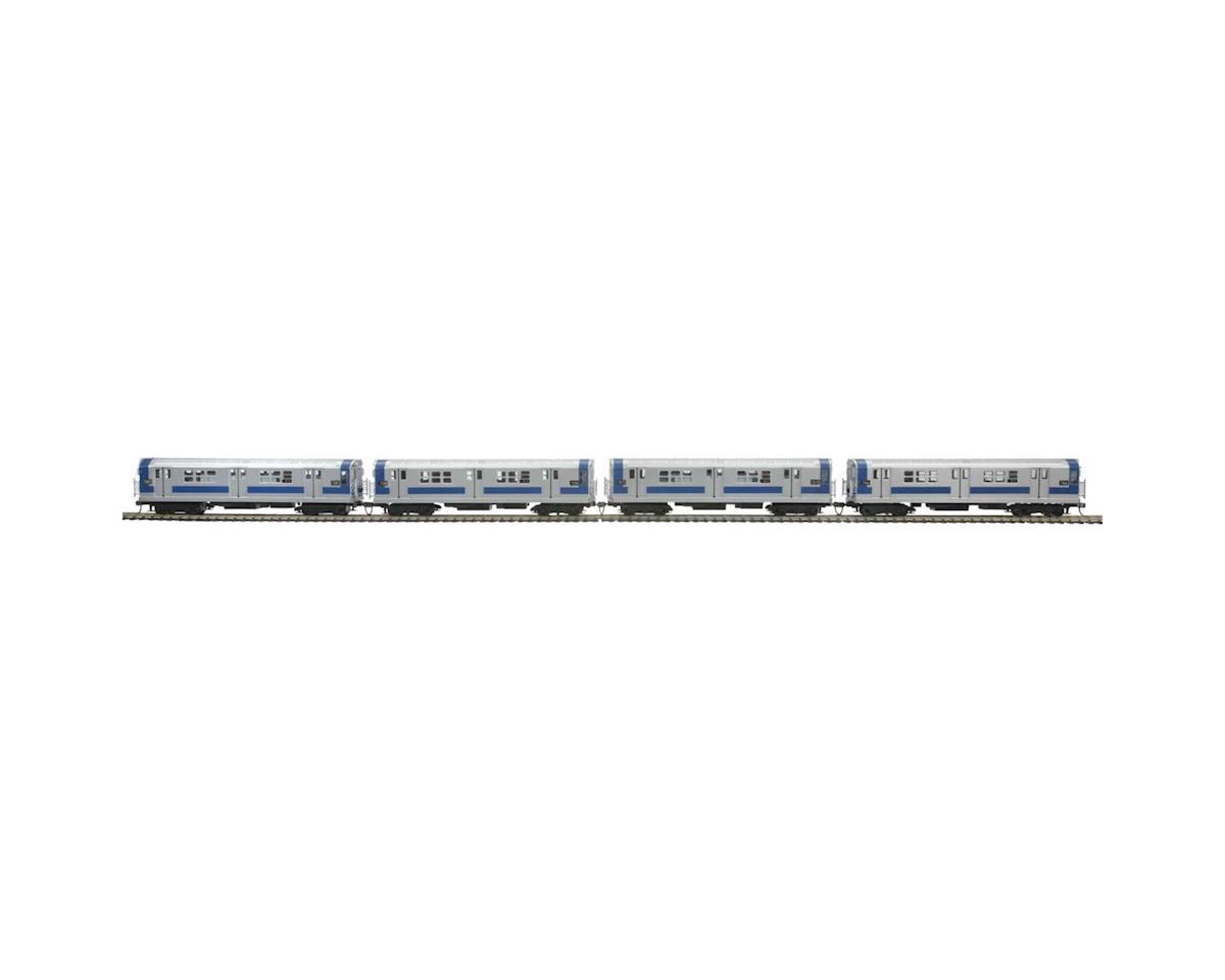 MTH Trains HO R-21 Subway w/NMRA, MTA #7166 (4)