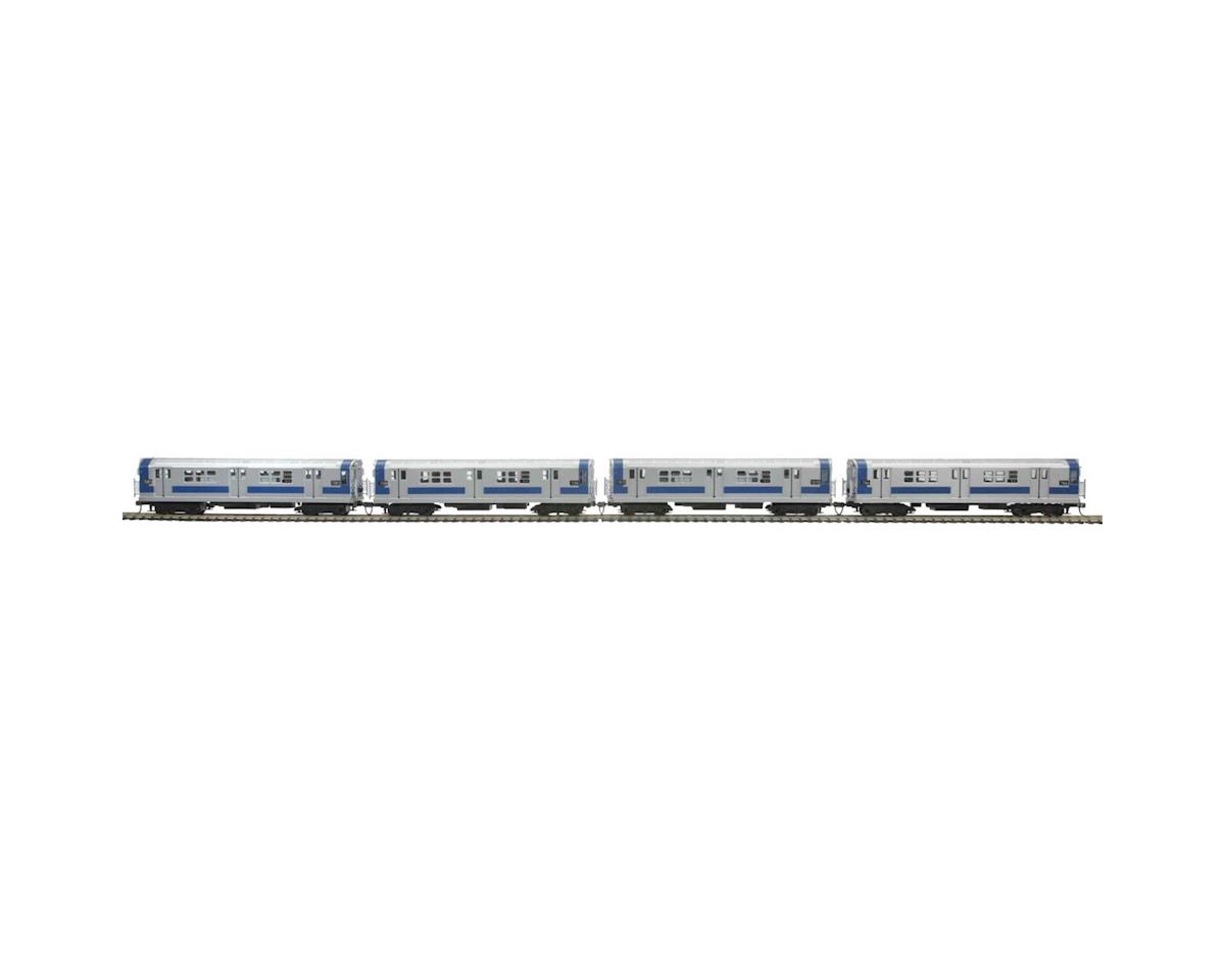 MTH Trains HO R-21 Subway w/PS3, MTA #7166 (4)