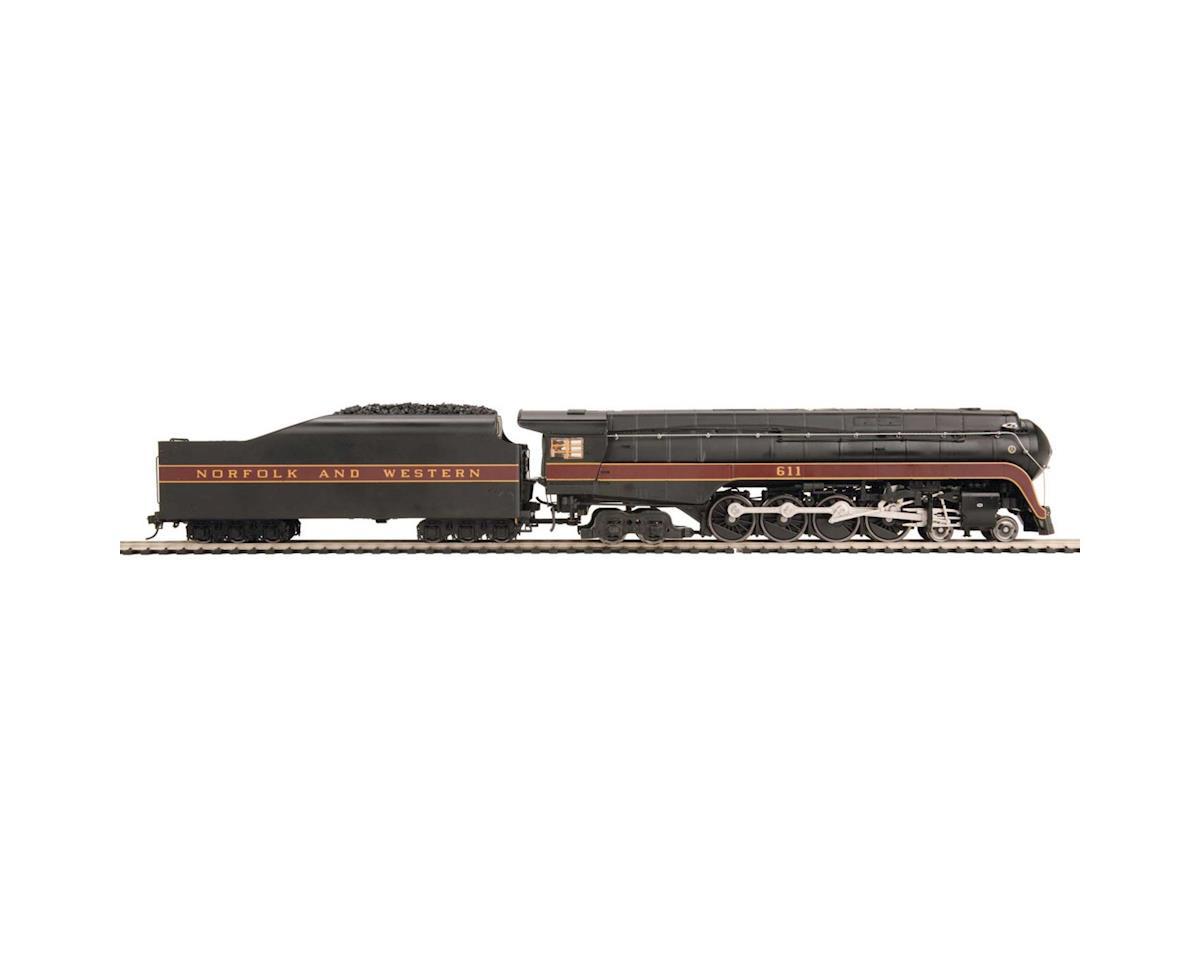 MTH Trains HO 4-8-4 J Flat Tender w/PS3, N&W #611