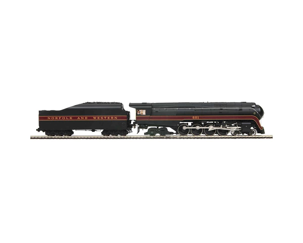MTH Trains HO 4-8-4 J  Round Tender w/PS3, N&W #601