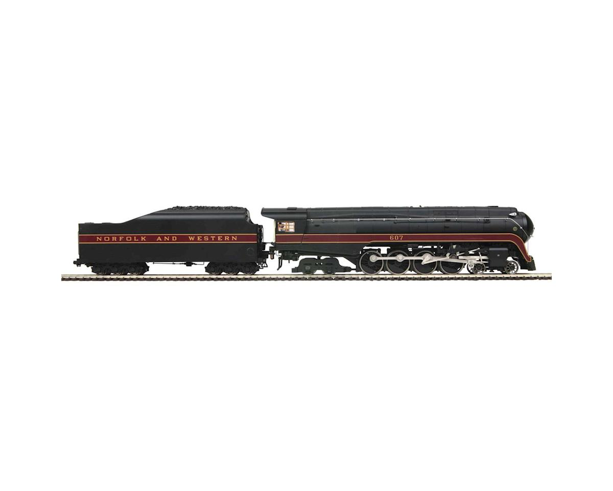 MTH Trains HO 4-8-4 J  Round Tender w/PS3, N&W #607