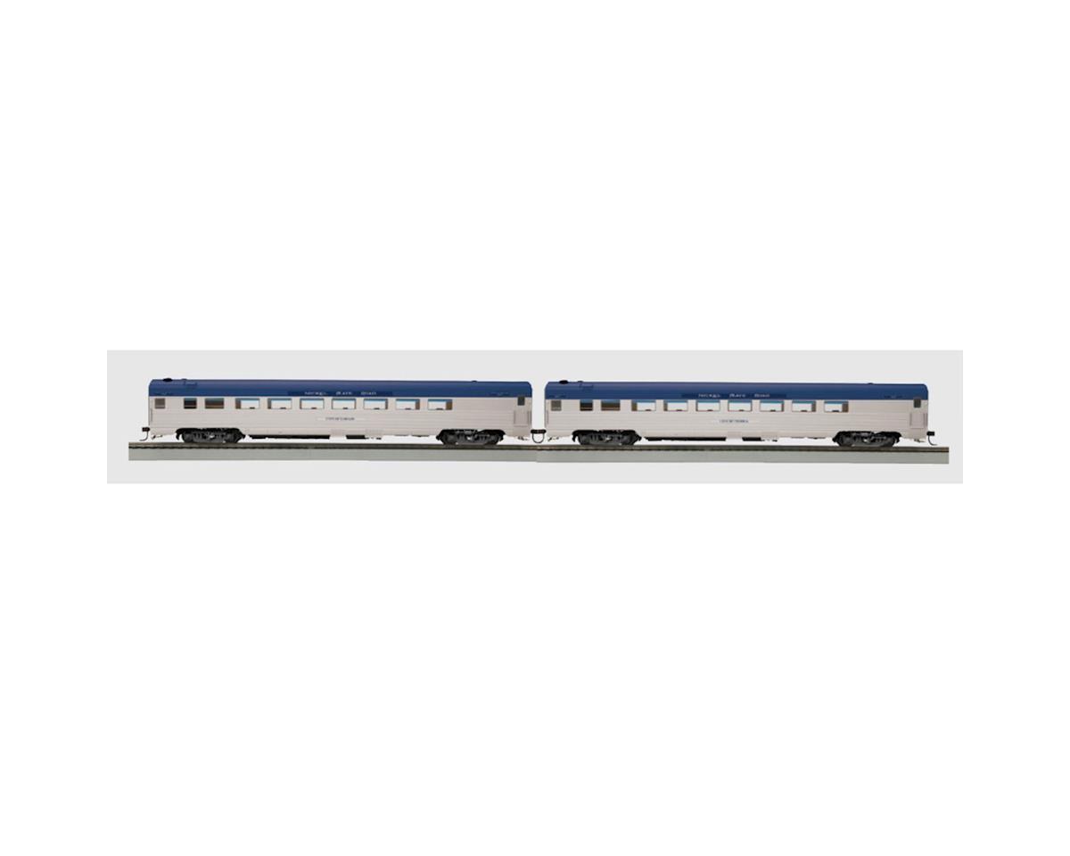 MTH Trains HO Ribbed Parlor, NKP (2)