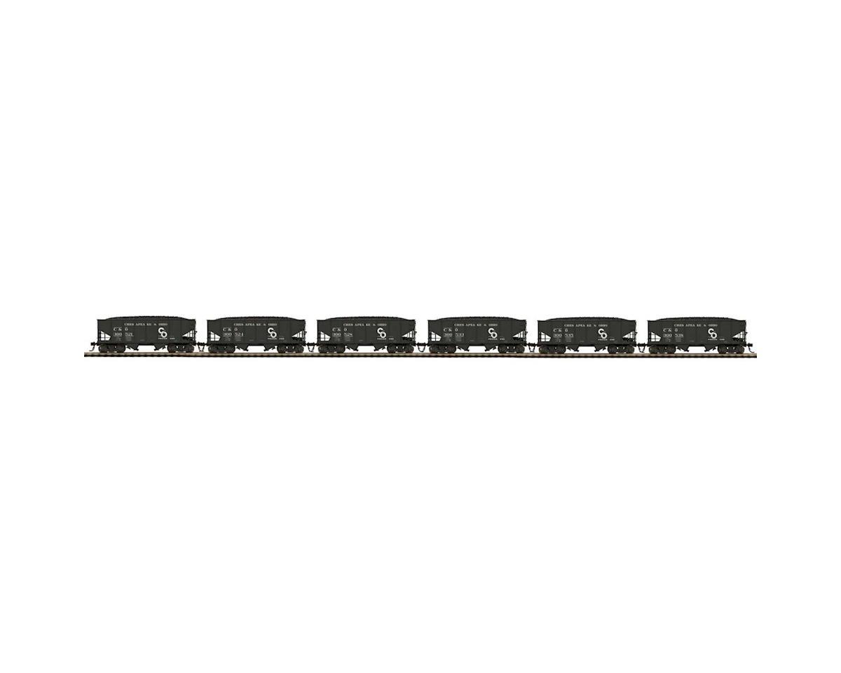 MTH Trains HO USRA 55-Ton Steel Twin Hopper, C&O #1 (6)