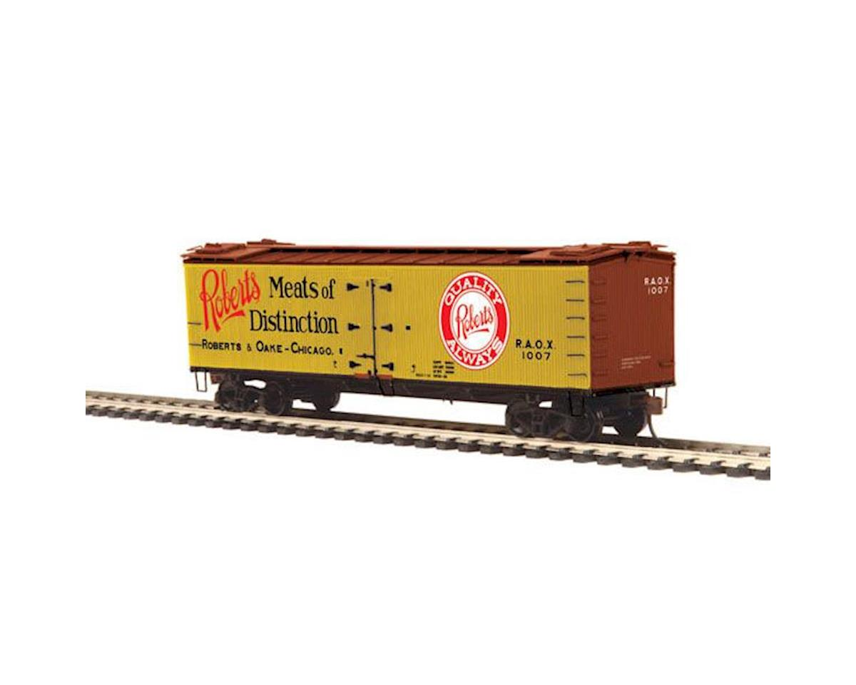 MTH Trains HO R40-2 Wood Reefer, Roberts & Oake Meats #1007