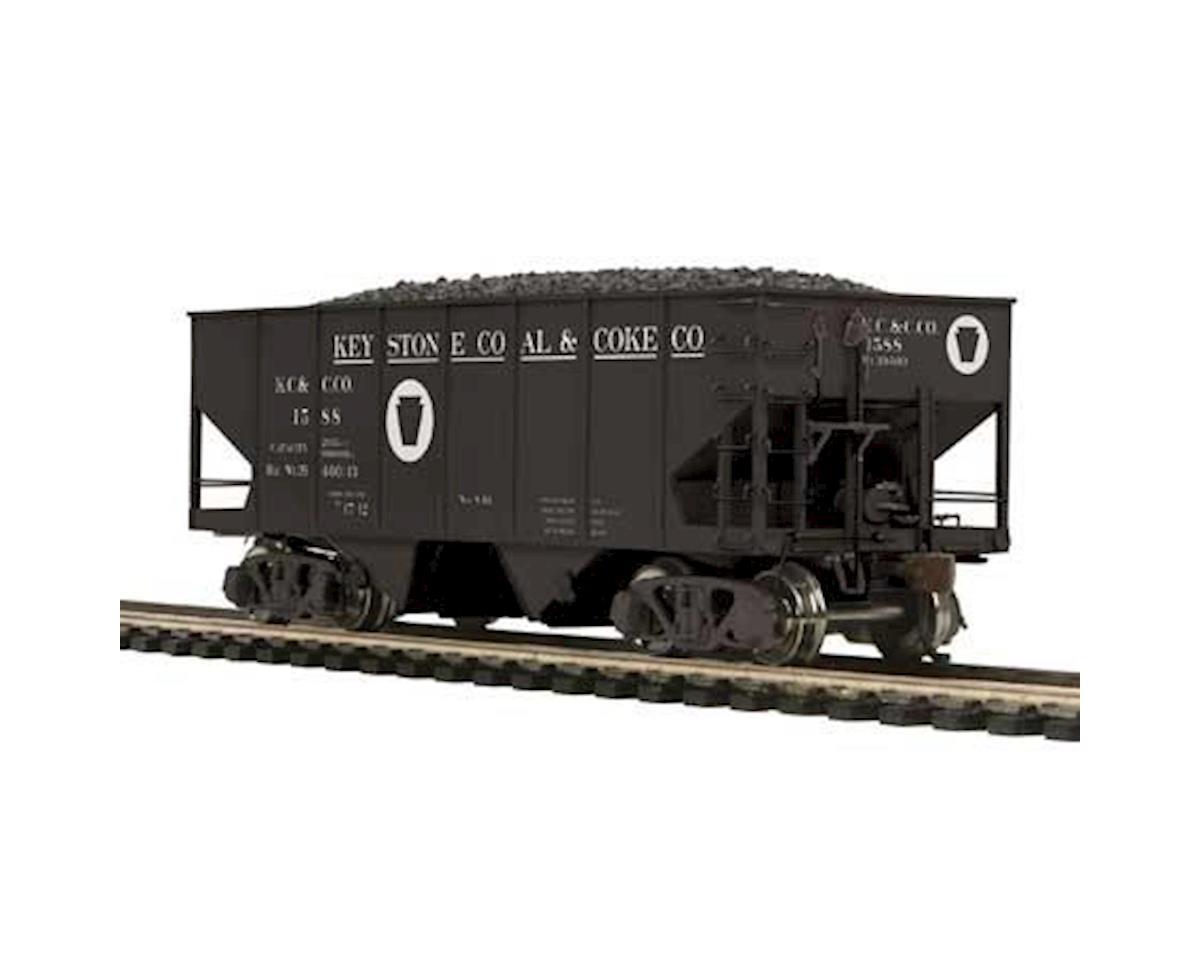 MTH Trains HO USRA 55-Ton Steel Twin Hopper, Keystone #1588