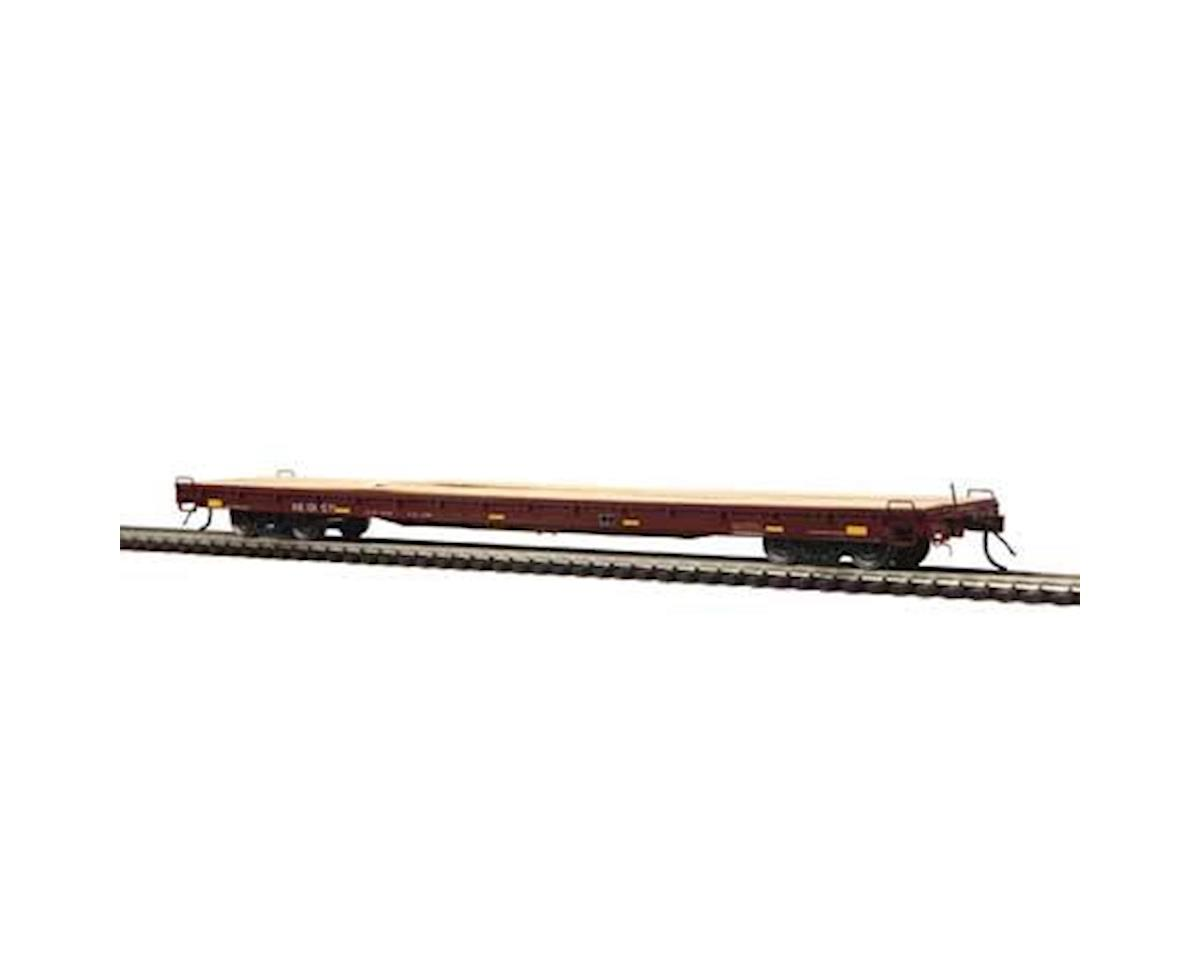 MTH Trains HO 60' Wood Deck Flat, NS #101571