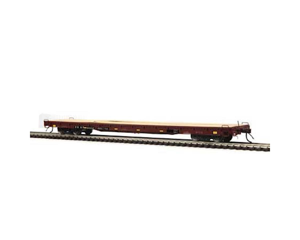 MTH Trains HO 60' Wood Deck Flat, CSX #603547