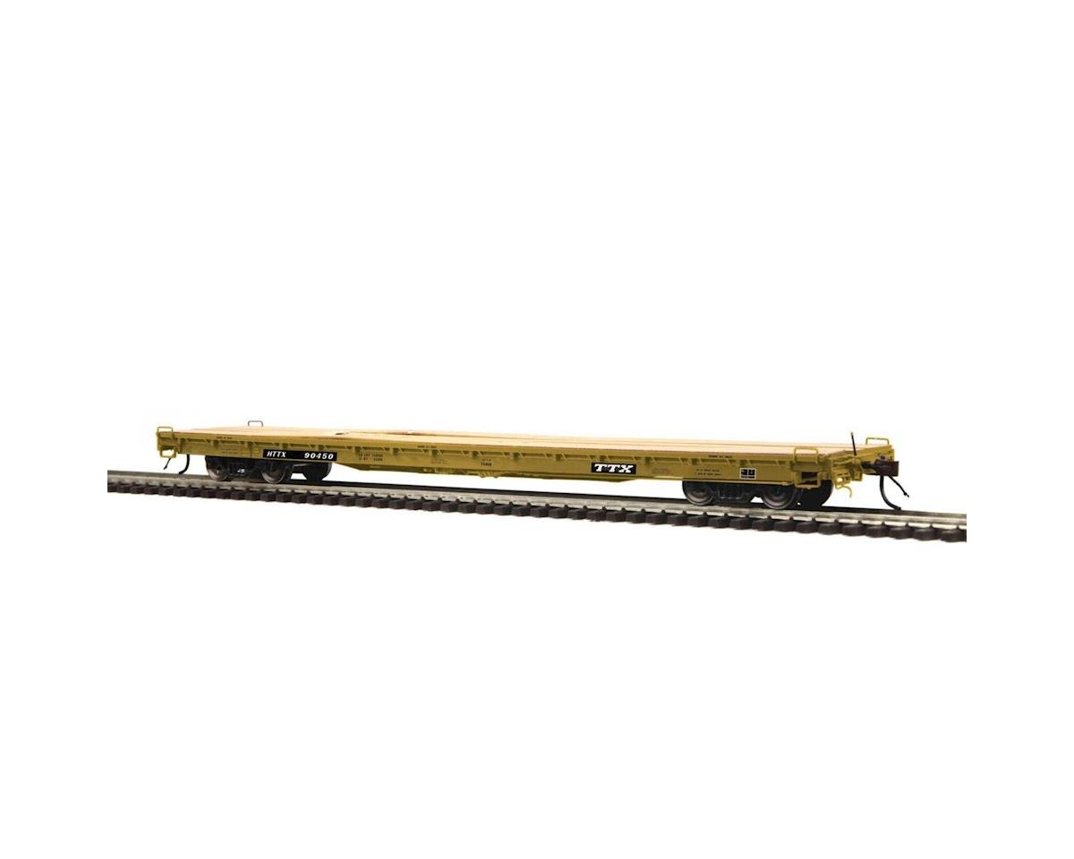 MTH Trains HO 60' Wood Deck Flat, TTX #HTTX 90450