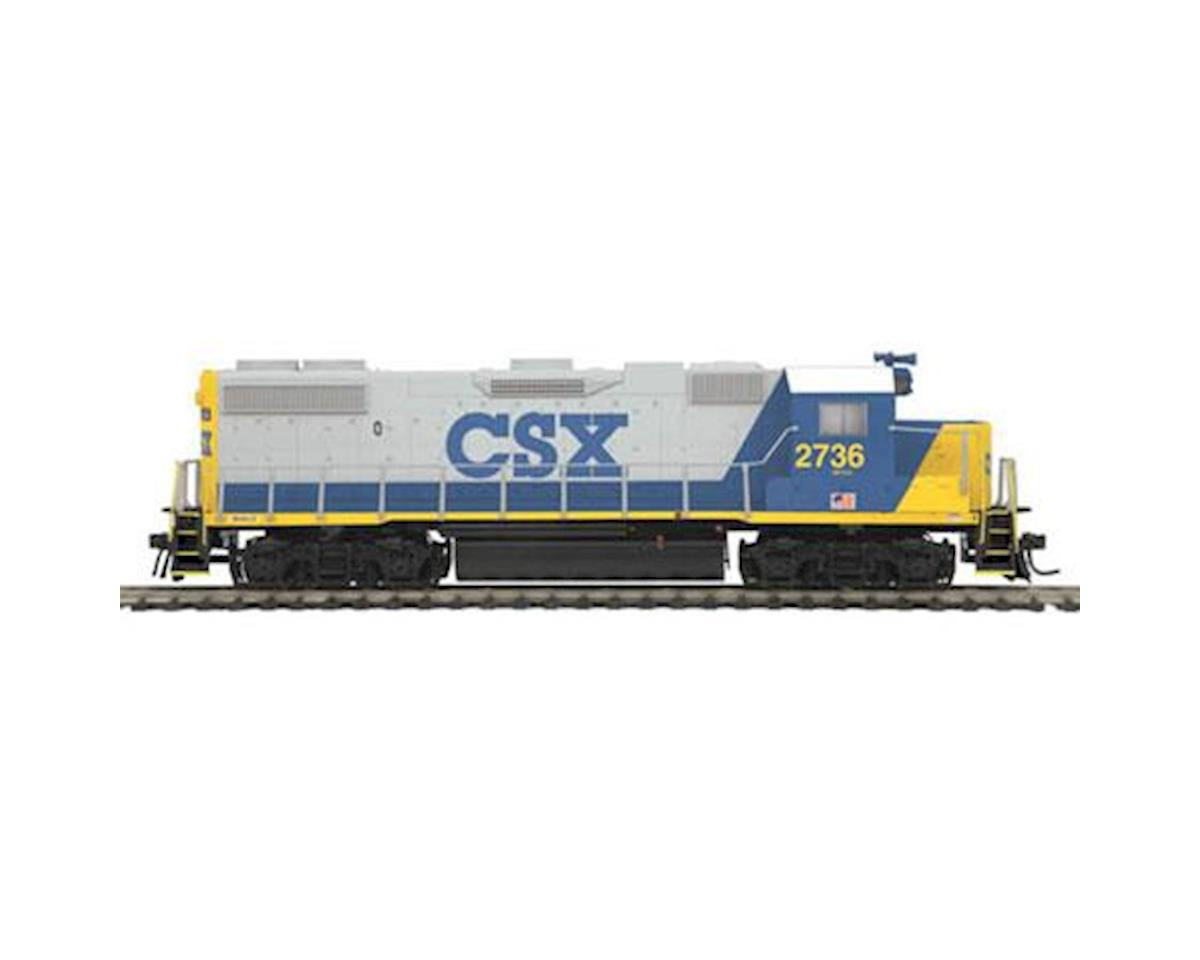 MTH Trains HO GP38-2 w/NMRA, CSX #2736