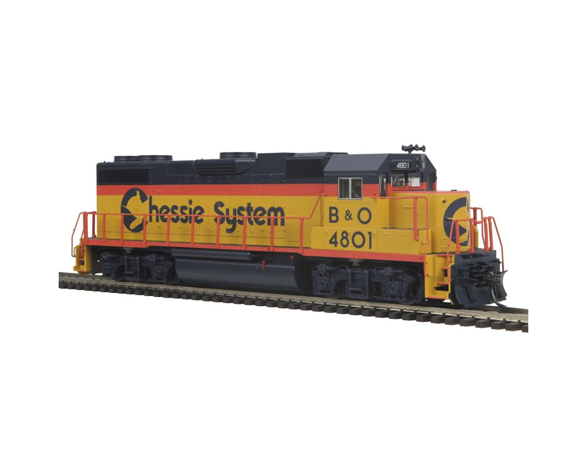 MTH Trains HO GP38-2 w/NMRA, Chessie # 4801