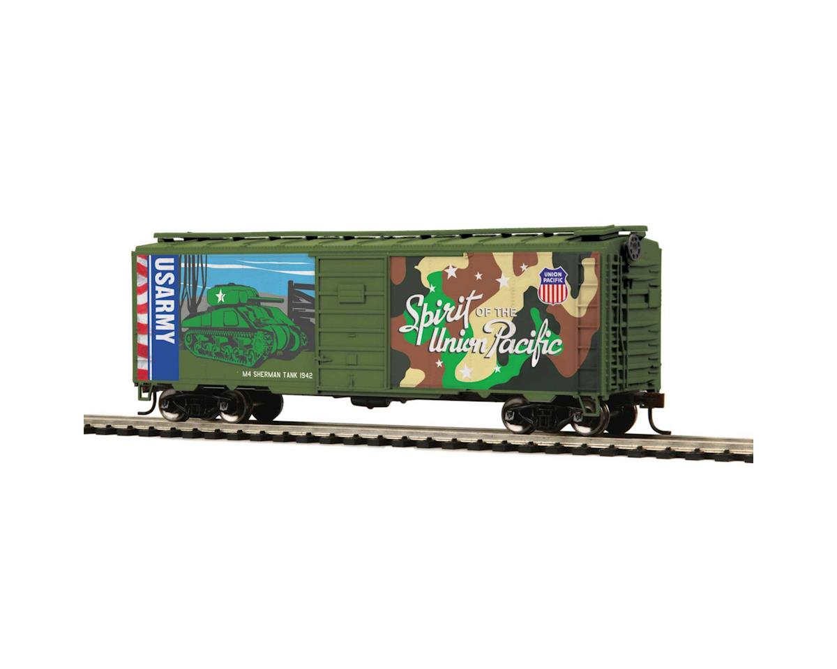 MTH Trains HO 40' PS-1 Box, US Army/Spirit of UP