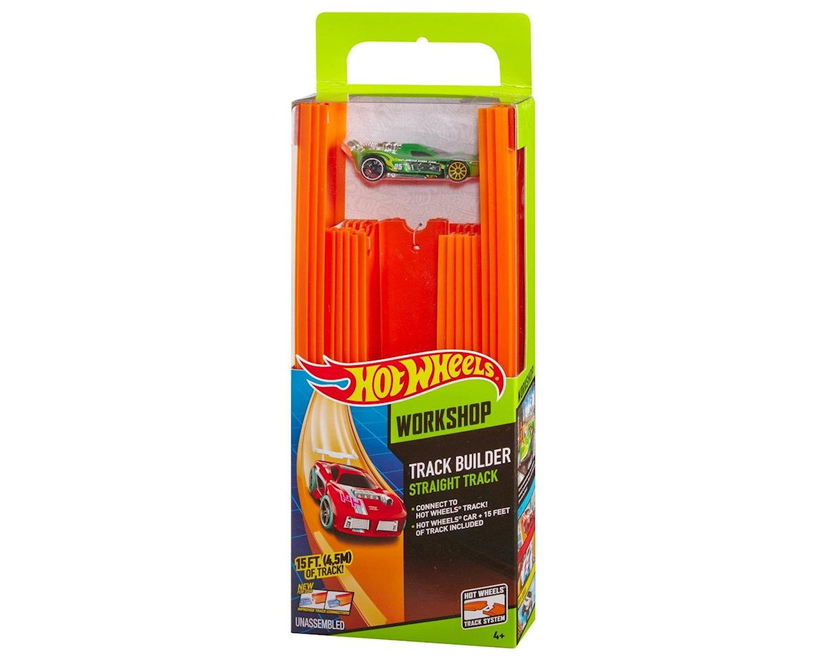 Mattel Hot Wheels Track Builder Straight Track with Car, 15 Feet - Styles May Vary