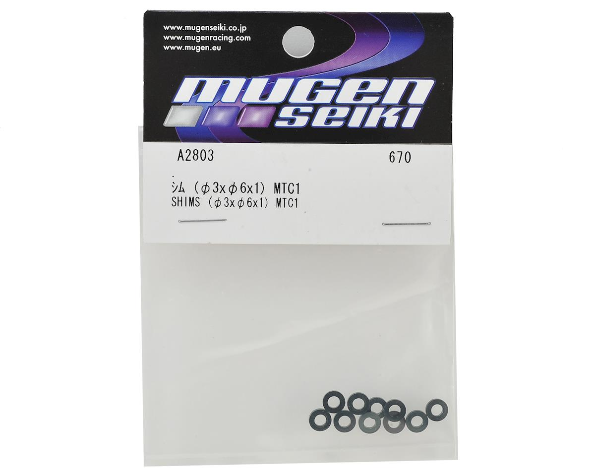 Mugen Seiki 3x6x1mm Aluminum Shims (10)