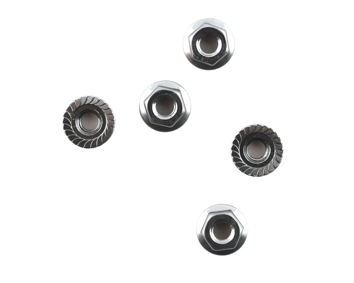 Mugen Seiki Aluminum 4mm Flange Nut (5) (MTX4)