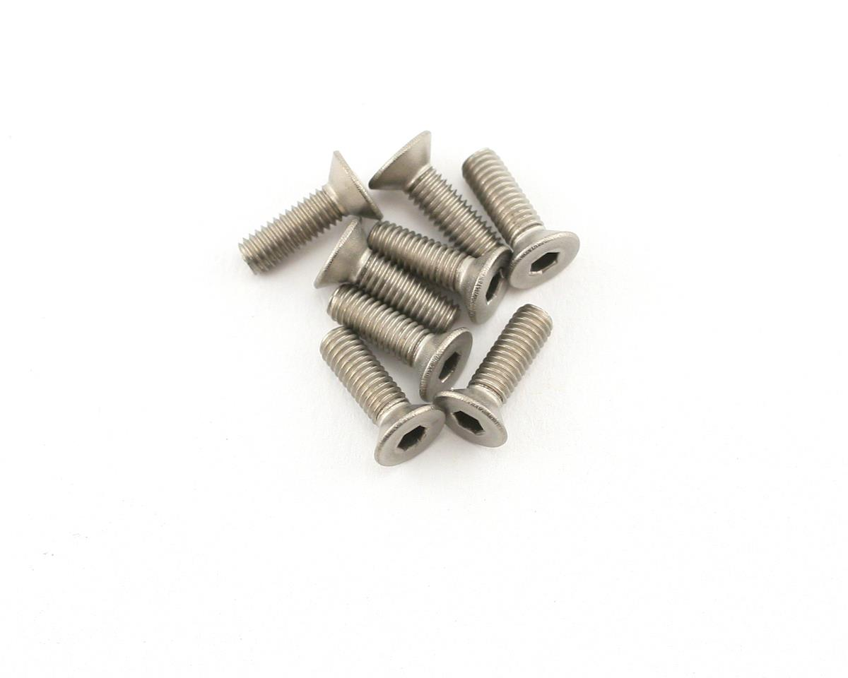 Mugen MTX6 Seiki 3x10mm SJG Titanium Flat Head Screw (8)