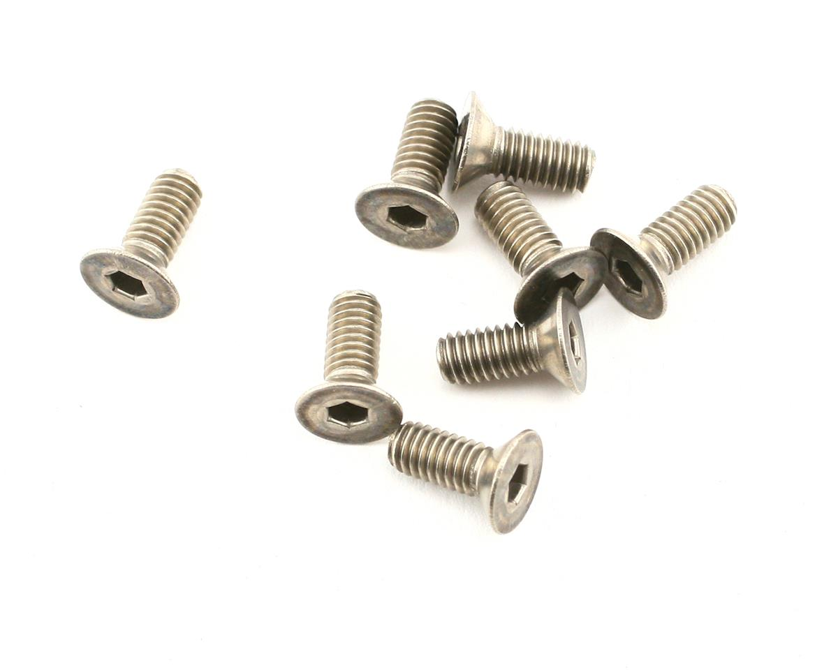 Mugen Seiki MRX4X 4x10mm Titanium SJG Flat Head Screws (8)
