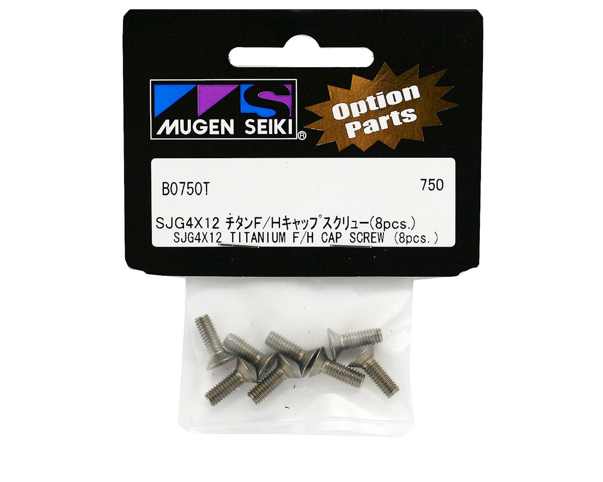 Mugen Seiki 4x12mm SJG Titanium Flat Head Screws (8)