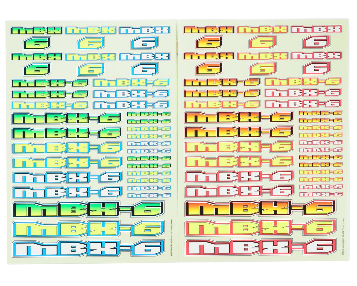Mugen Seiki MBX6 Decal Sheet (2)