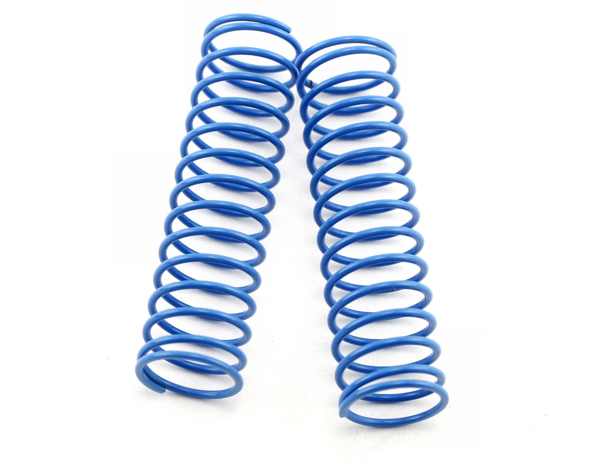 Long Front Big Bore Shock Springs 14.5T (Light Blue - Soft) (2) by Mugen Seiki