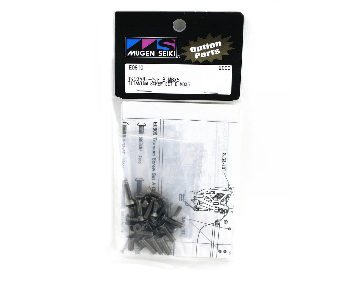 "Mugen Seiki Titanium Lower Screw Set ""B"": X5"