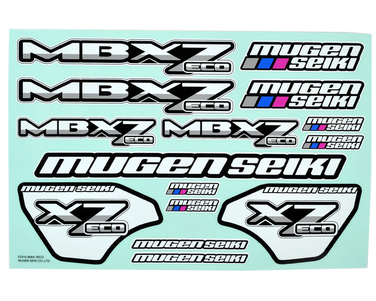 MBX7 ECO Decal Sheet by Mugen Seiki