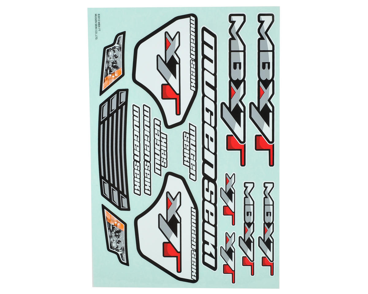 Mugen Seiki MBX7T Decal Sheet