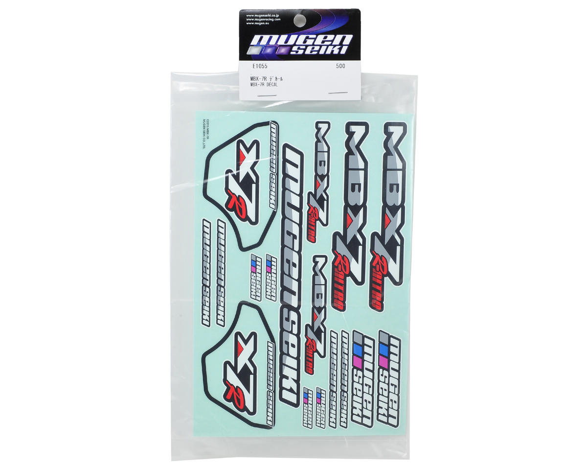 Mugen Seiki MBX7R Decal Sheet