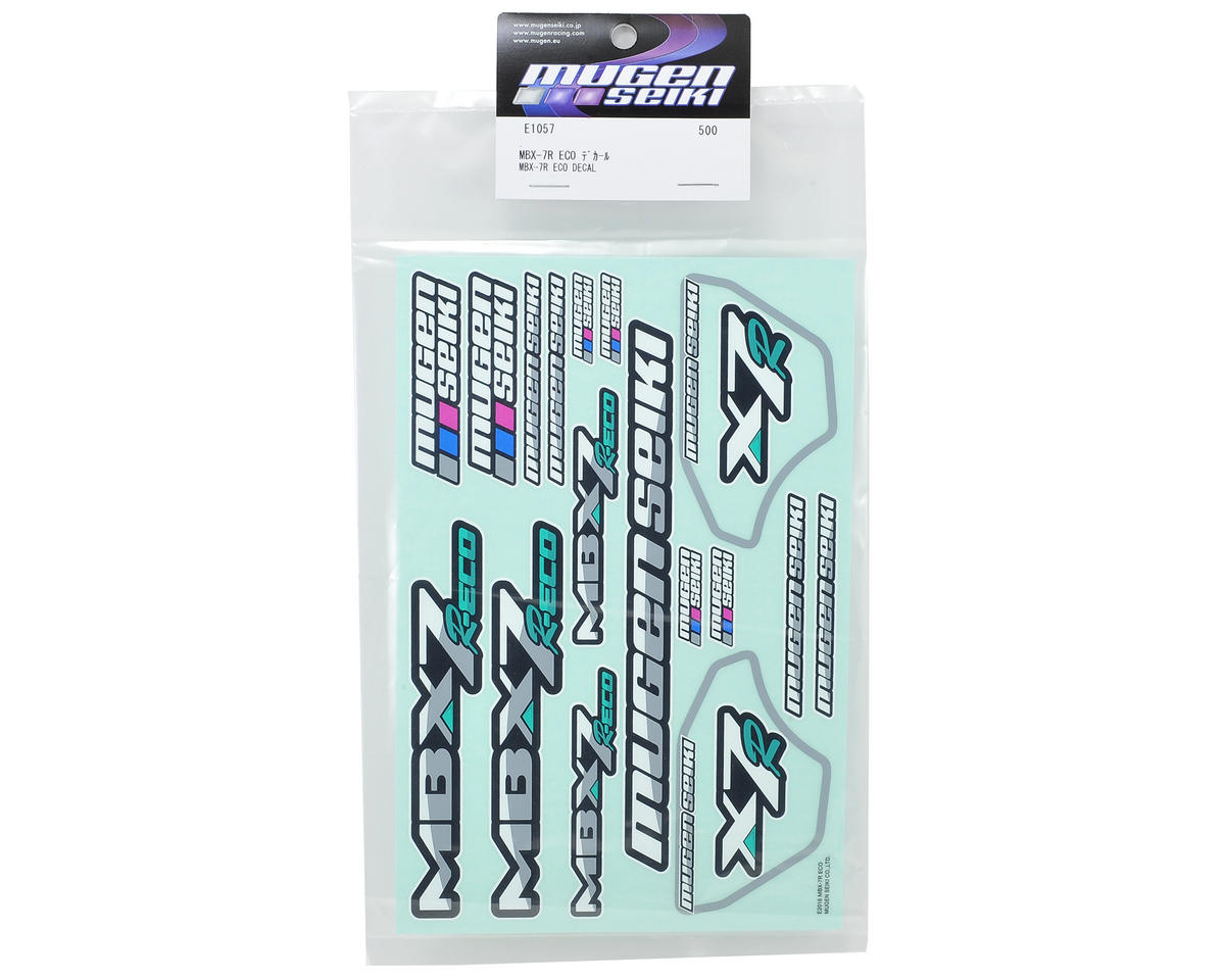 Mugen Seiki MBX7R ECO Decal Sheet
