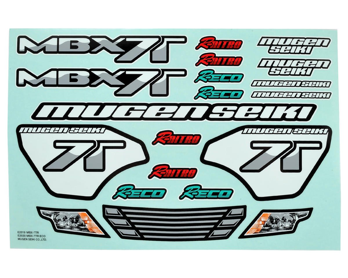 Mugen Seiki X7TR/ECO Decal Sheet
