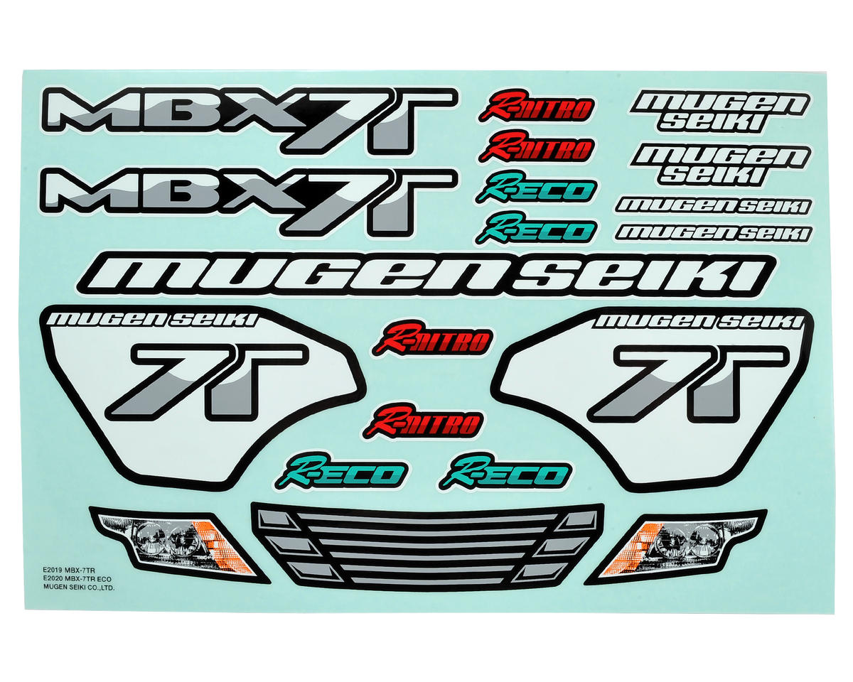 X7TR/ECO Decal Sheet by Mugen Seiki