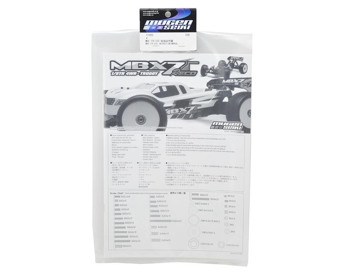Mugen Seiki MBX7TR ECO Instruction Manual