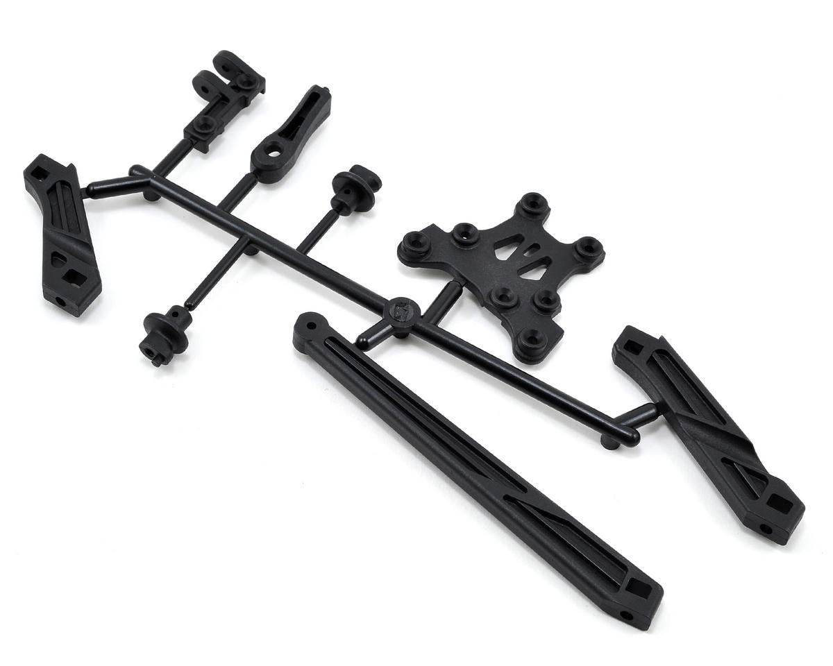 Mugen Seiki Tension Rod, Body Mount & Front Upper Brace Set
