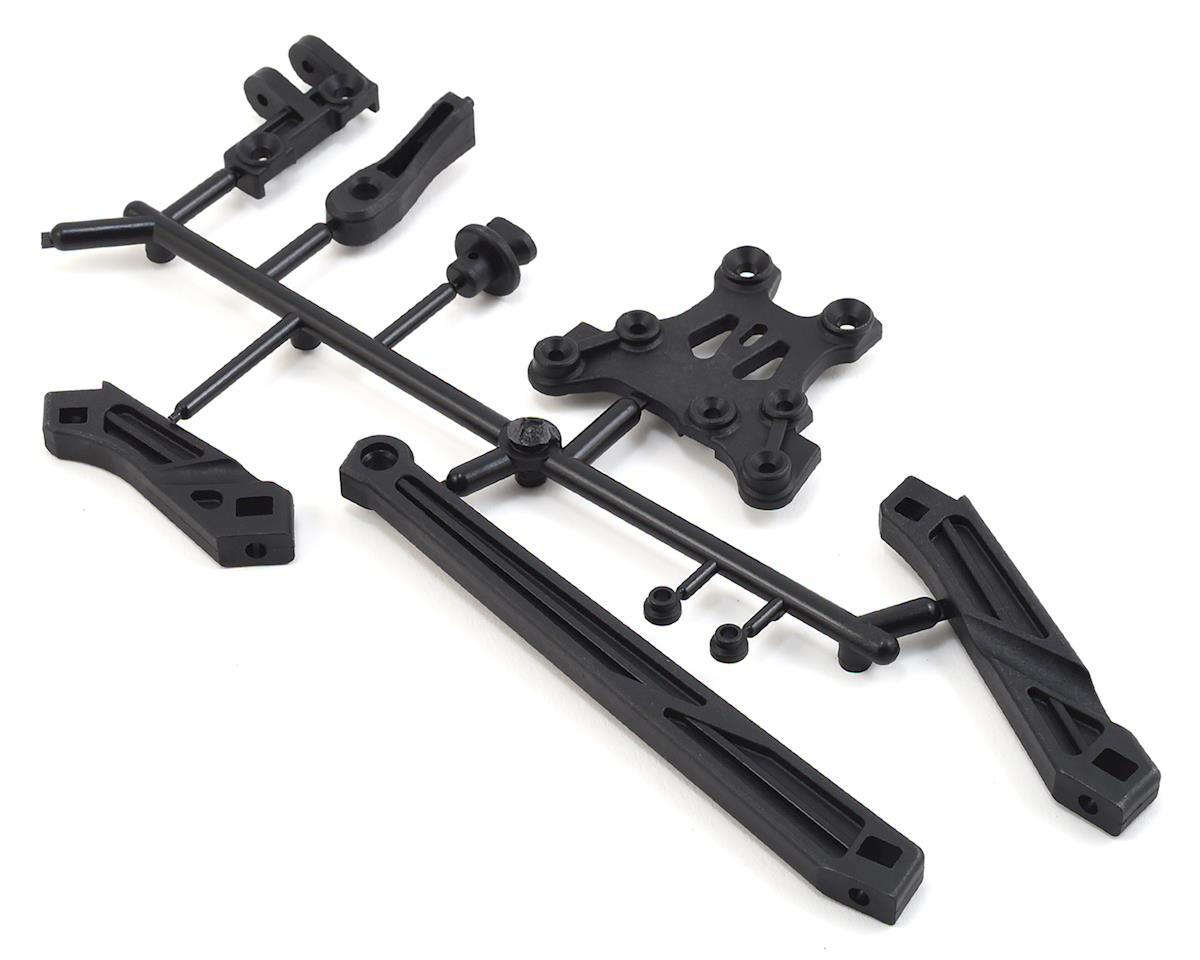 MBX8 Body Mount & Front Upper Plate Set by Mugen Seiki