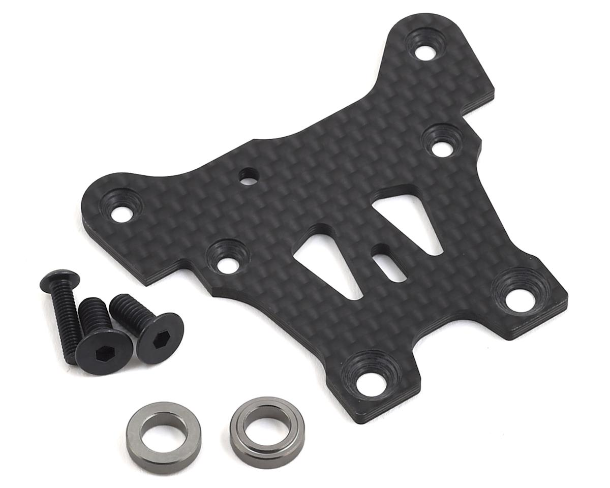 MBX8 Graphite Front Upper Steering Plate by Mugen Seiki