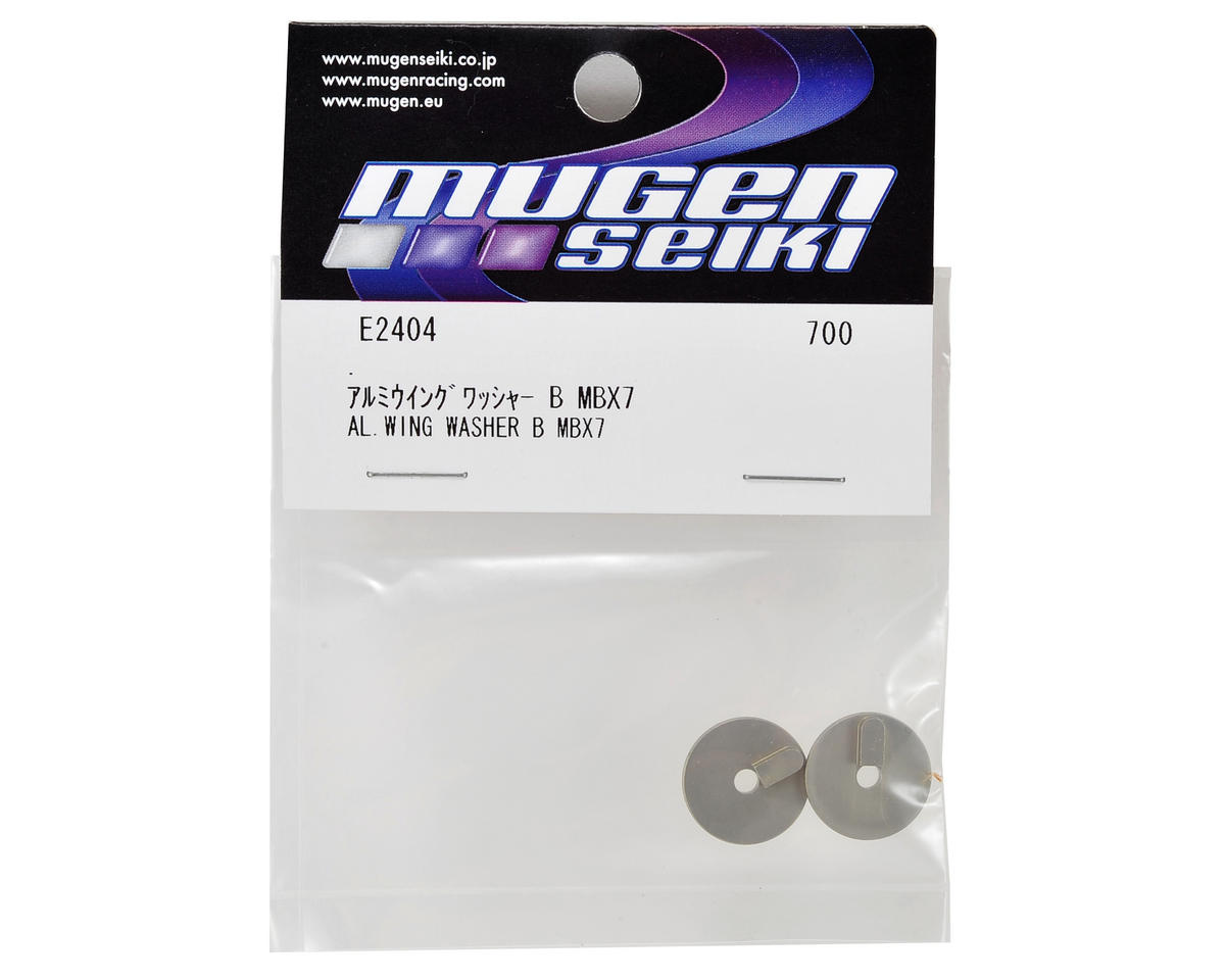 "MBX7 Aluminum ""B"" Front/Rear Position Wing Washer (2) by Mugen Seiki"