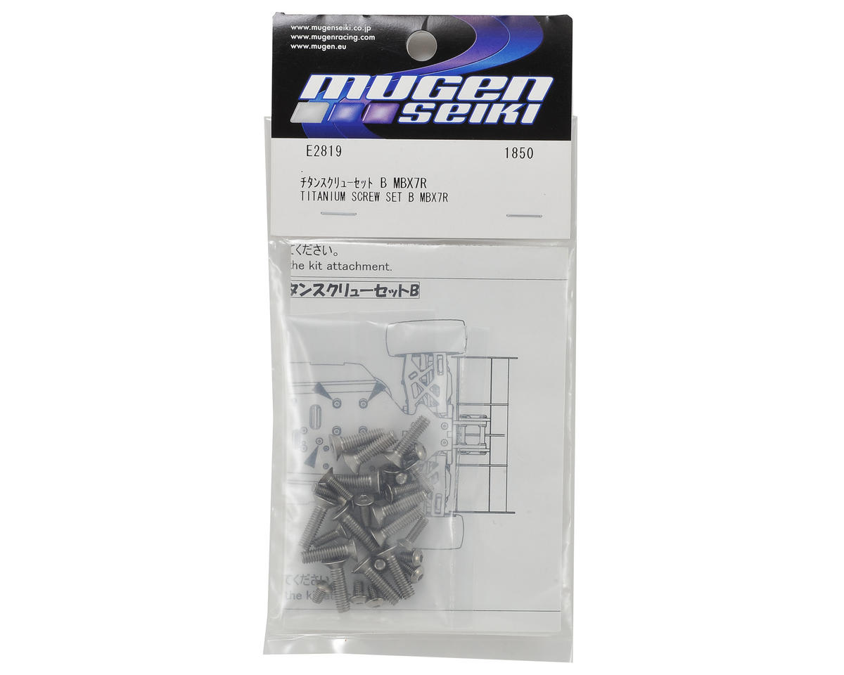 Mugen Seiki MBX7 Titanium Lower Screw Set B