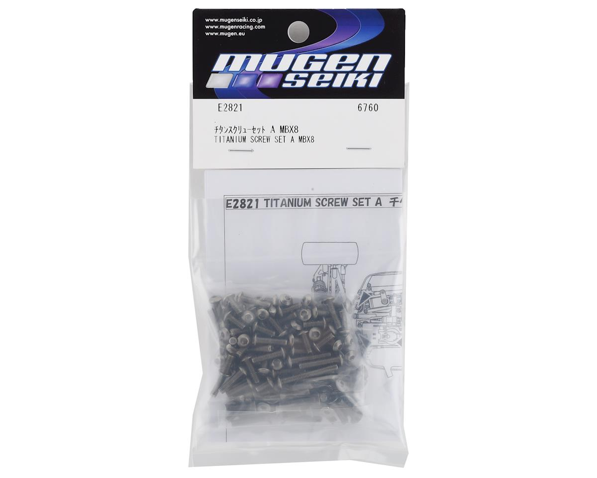Mugen Seiki MBX8 Titanium Upper Screw Set A